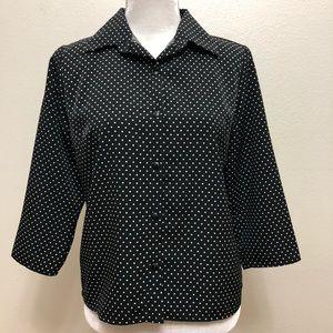 Kathie Lee Collection Polka Dot Blouse- SizeSmall